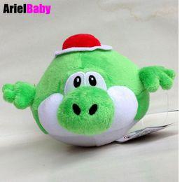 "Wholesale Yoshi Plush Dolls - OHMETOY Super Mario Bros Green Fly Blimp Yoshi Stuffed Plush Animal Doll Kids Toys Approx 17cm 6.7"" Free Track Code"