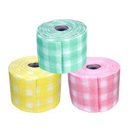Toallitas gratis online-30 m / rollo de pelusa calidad celulosa toallitas Gel acrílico falso removedor de esmalte de uñas