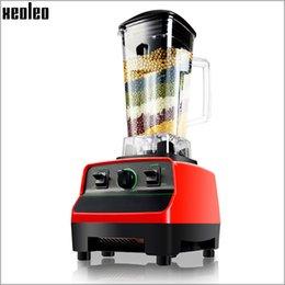 Wholesale Plastic Juice Cups - Xeoleo 3HP Commercial Food blender Heavy duty Blender 2L Free BPA Cup 28000rpm Food mixer Blender Mixer Juicing machine Food Processor