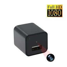 Wholesale Covert Video Surveillance Camera - 32GB HD 1080P No Hole Charger Camera Adapter DVR Covert Camera Video Portable Surveillance Camcorder Candid Camera