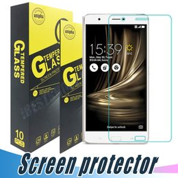 Wholesale Padfone Asus - Tempered Glass Screen Protector 9H 2.5D Anti Shock Clear Film For ASUS 3Max Zenfone3 laser Deluxe 2 Laser Zenfone Go Padfone X Max