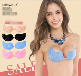 Wholesale Princess Chest - Perforated women bra ventilation push up bra butterfly princess bra invisible underwear Super glue mango type perforated chest stick