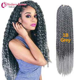 Wholesale 3d Crochet - 3D Cubic Twist Crochet Braids 120g 22inch Synthetic braiding hair Afri Naptural Ombre Mambo Senegalese Twist Hair Extensions Free shipping