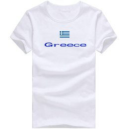 Wholesale Picture Tees - Greece T shirt Ride sport short sleeve Nice picture tees Nation flag clothing Unisex cotton Tshirt
