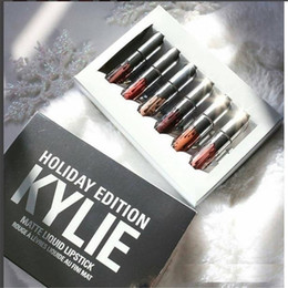 Wholesale Gifts Holidays - Newest Kylie Holiday Edition Kit6 pcs 4pcs Matte kylie jenner Liquid lipgloss Collection Set For Christmas Gift