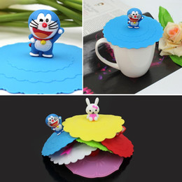Wholesale Tool Dust Covers - Silicone Cute Anti-dust Glass Cup Cover Coffee Mug Suction Seal Lid Cap Tool Cup Cover Mug Lid Cap Airtight