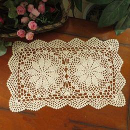 Wholesale Hooks For Crochet - Lot of 6 pcs ~ crochet hook Beige Home Textiles handmade crochet table mats, crochet coasters, oblong doilies for home decor