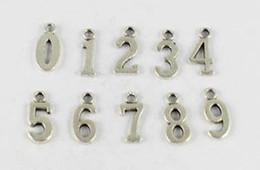 Wholesale Tibetan Number Charms - 80 Pcs Tibetan silver gold bronze assorted number charms pendants