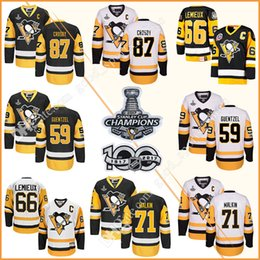 Wholesale Men s Pittsburgh Penguins Hockey Jerseys Jake Guentzel Sidney Crosby Sidney Crosby Mario Lemieux Stanley Cup Championship patch Jersey