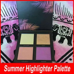 Wholesale Eyeshadow Palette 3d - New Beauty Summer 3D 4 Colors Eyeshadow Highlighter palette Editio Summer Solstice Collection Makeup Palettes Free