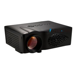 Wholesale Home Theater Cheapest - Wholesale-New Home Theater 1600lumens 800*480 Video SD HDMI USB LCD LED mini 3D Projector HD 1080P Beamer Proyector Projetor Cheapest