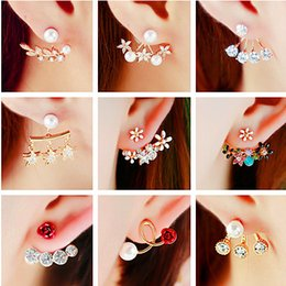 Wholesale Access Jewelry - girl jewelry On the Korean version after hanging flower earrings female cute little Daisy Earrings temperament hypoallergenic fashion access