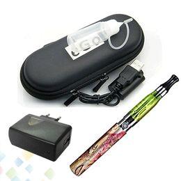 Wholesale Electronic Cigarette Ego Q - Popular Electronic Cigarette Ego Q CE4 Single Kit with 650 900 1100mah Battery Atomizer USB Charger Zipper Case DHL Free