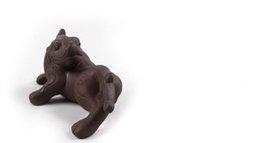 Жемчужная глина онлайн-повезло животных Исин ручной работы фиолетовый глины китайский чай питомцев завод прямых продаж чай украшения около 6 см * 13 см t62