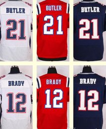 Wholesale 2017 New Men s Malcolm Butler Tom Brady Red White Blue Top Quality jerseys