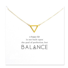 Wholesale Cute Easter Cards - With card! Cute Necklace with triangle pendant (Balance), noble and delicate, no fade, free shipping and high quality.