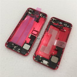 Wholesale Houses Color - New High quality Battery Back Cover Housing with small parts assembly Red color For iPhone 5 5G 5S