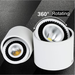 Wholesale Spot Mount - New 5w 7w 9w Round COB LED Downlight Surface Mounted Kitchen Bathroom Spot light Lamp AC110-240V LED ceiling lamp with led drive