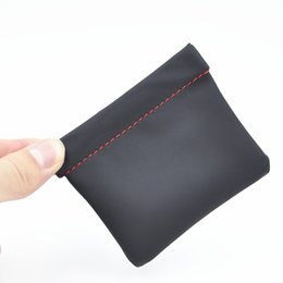 Wholesale Leather Earphone Cases - Dirt-resistant PU Leather Earphone Case Portable Bag For Headphone Protective Pouch bags