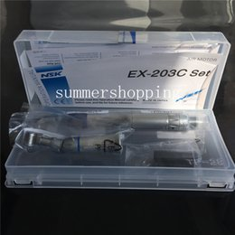 Wholesale Dental Low Speed Kit - Fast Shipping NSK Dental Slow Low Speed Handpiece Complete Kit EX-203 Set Borden 2 Holes   4 Holes