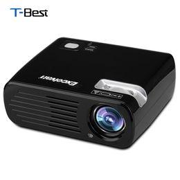 Панель vga lcd онлайн-Wholesale-Excelvan EHD11 2600 Lumens LED Projector Multimedia Home Cinema Proyector 800*480 USB/AV/HDMI/ATV/VGA TFT LCD Panel Projector EU