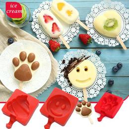 Wholesale Design Cake Mold - Silicone Ice Cream Mold Pop Ice Maker Frozen Mould Popsicle Chocolate Tray DIY Ice Cream Cake Mold Popsicle Sticks Mould 8 design KKA1556