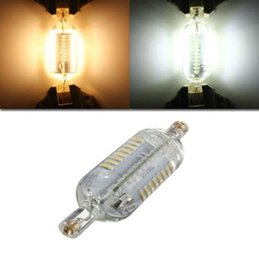 Wholesale Led R7s 15w - NEW Dimmable R7S LED Bulb 10W 15W SMD4014 200-240V 78mm 118mm IP65 Glass LED Lamp Bulb 360 Degree Replace Halogen Lamp Floodlight MYY