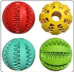 Wholesale Elastic Rubber Ball - Dog Toys Chews Ball Missing Elastic Force Natural Rubber Ball Alpinia Toy Wearable Spherical Pet Gnaw Colorful Plaything 4 9gg J