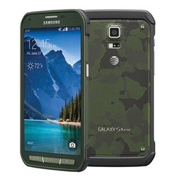 Wholesale S5 Unlocked Inch - Refurbished Original Samsung Galaxy S5 Active G870A 5.1 inch Quad Core 2GB RAM 16GB ROM 16MP Camera 4G LTE Unlocked Mobile Cellphone DHL 1pc
