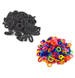 Wholesale Hair Rubber Band Baby - Wholesale- 100Pcs   Lot Child Baby Small Rubber Bands Elastic Ponytail Holders Hair Ring Accessories Girl Rubber Bands Tie Gum