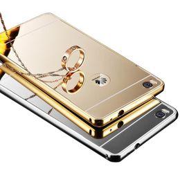 Wholesale Metal Bumper Cases - Luxury Acrylic Mirror Aluminium Metal Bumper Case For Huawei P8 P9 Lite Mate 7 8 S Mate7 Mate8 Nova Honor 4A Y6