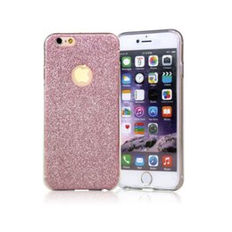 Wholesale Iphone Golden Cover - Top Quality Golden light Flash Glitter Case For Apple Iphone 5S 6S 7 plus Case Silicone Soft Crystal Phone Cases For Iphone 7 cover