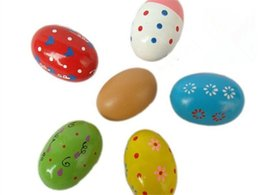 Wholesale Percussion Music Instruments - Wholesale- 2017 Colorful Wooden High quality Egg Children Toy Music Shaker Instrument Percussion Rattle