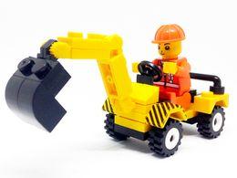 Wholesale Construction Blocks - 12pcs set City Construction Engineer Excvavtor Building Blocks Bricks Kids DIY Model Set Bricks Toys Children Gift