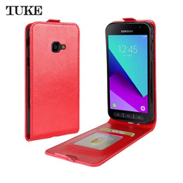 Wholesale Galaxy Pocket Back Case - TUKE For Samsung Galaxy Xcover 4 G390F Case Luxury PU Leather Flip Back Cover Case Xcover4 SM-G390F Soft Cover Mobile Phone Case