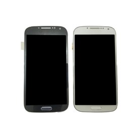 Wholesale Galaxy S4 Blue - For Samsung Galaxy S4 i9500 i9505 I545 I337 M919 L720 Lcd Digitizer Displaiy Screen Assembly Blue or white with Frame Free Shipping