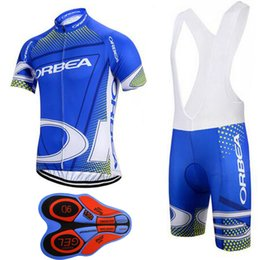 Wholesale Cycling Team Jerseys China - 2017 TEAM ORBEA cycling jersey 9D gel pad bibs shorts Ropa Ciclismo quick dry pro Short Sleeve Bike Clothing China Cheap F3004
