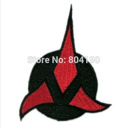"Wholesale Star Trek Uniforms - 3"" Star Trek Next Generation Klingon Uniform TV Movie Embroidered IRON ON and SEW ON Cool Patch Badge"