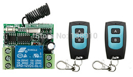Wholesale Garage Door Switches - Wholesale- DC12V 1CH 10A RF Wireless Remote Control Switch System 2X Transmitter + 1 X Receiver,315 433 MHZ  lamp  window Garage Doors