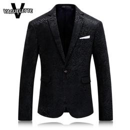 Wholesale Leopard Print Mens Clothes - Wholesale- Solid Black Mens Printed Blazer Leopard Fashion Mens Clothing Party Stage Costumes For Singers Slim Fit Coat Blazer Homme M-4XL