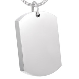 Wholesale Pendant Tags Necklace - IJD8416 Free Engraving Blank Stainless Steel Dog Tag Cremation Pendant Necklace Memory Ashes Keepsake Urn Funeral Necklace