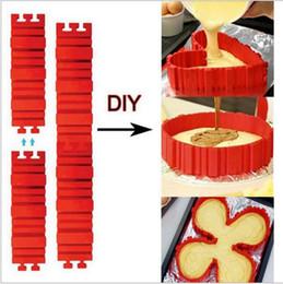 Molde de cozimento de silicone retangular on-line-Eco-Friendly Silicone Bake Cobra praça retangular forma redonda Mold Magia Bakeware Asse o bolo Snakes Mold pastelaria Ferramentas DHL grátis