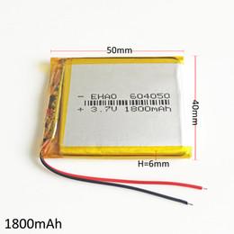 Modelo 604050 1800 mAh 3.7 V LiPo batería recargable de polímero de litio de litio para DIY PAD DVD MID teléfono celular Banco de potencia GPS cámara E-books desde fabricantes