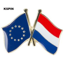 Wholesale Friendship Flag Pins - European Union Netherland friendship Flag Badge Flag Pin 10PCS