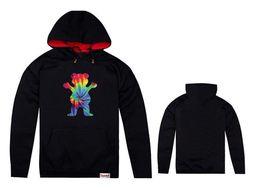 Diamond supply sweatshirt online-Nueva primavera otoño Grizzly Grease hoodies Diamond Supply para hombre Grizzly bear sudadera cuello redondo sudadera con capucha pullover