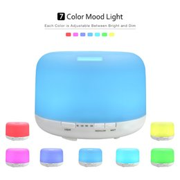 Wholesale Aroma Home Wholesale - 500ml 300ml Color Changable LED Light Essential Oil Aroma Diffuser Ultrasonic Air Humidifier Mist Maker for Home & Bedroom LZ0131