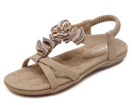 Wholesale Flat Sandals Bling - Plus Size 35-41 Summer Sandals Bling Rhinestone Flats Women Platform Wedges Sandals Fashion Flip Flops Comfortable Shoes Woman G255
