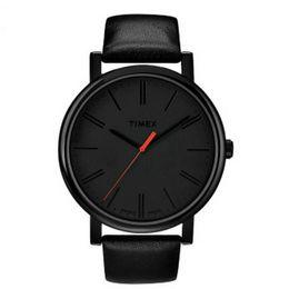 Wholesale Branded Logo - Timex Men Woman unisex Leather Strap Quartz brand 30m waterproof Wrist Watch T2N794 T2N793 with logo