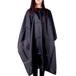 Wholesale Hair Salon Aprons - Fashion Hair Cut Cape Cloth Waterproof Salon Hairdresser Barbers Hairdressing Cape Gown Adult Apron Shade Styling Tool