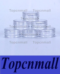 Wholesale Nail Samples - 2ML Clear Plastic Empty Jar28x13MM Clear Lid 2Gram Pot Sample Size For Cosmetic Cream Eye Shadow Nails Powder Jewelry E-Liquid